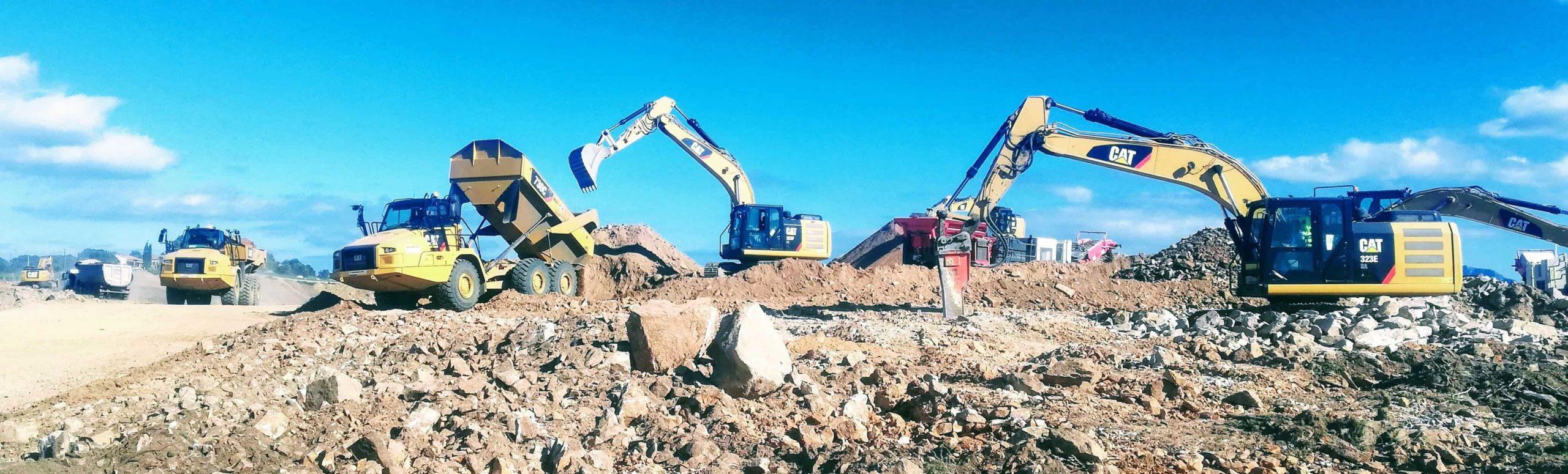 Movistrade_movimento_terra_escavatore_dumper_caterpillar_Sardegna